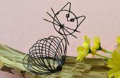 Wie erstelle ich einen niedlichen schwarzen Draht gewickelt Katze Handwerk für Kinder