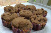 Gluten- und milchfreien Dark Chocolate Chip Muffins Leinsamen