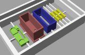 """Machen Kunststoff 3D-Modelle von CAD-Konstruktionen mit einem automatisierten """"Fräsmaschine"""""""