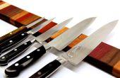 Regenbogen Holz Messer Magnetstreifen
