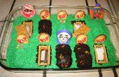 Halloween Friedhof Brownie Kuchen