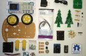 HackerBoxes 0001: Roboter Smart-Auto, NodeMCU, 3D LED Weihnachtsbaum