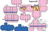Wie erstelle ich Miss La Sen Roboter Papercraft