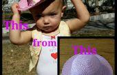 Bilden einen Cowboy-Hut aus ein billig Strohhut