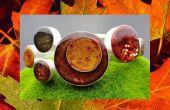 Herbst Blätter Silber und Harz Manschette Armband