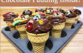Trüben Freude Schokolade Cupcake Kegel