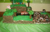 Minecraft-Geburtstags-Kuchen