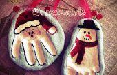 Salz Teig Christmas Ornaments