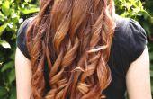 Wie Sie Ihre Haare mit einem Glätteisen Curl