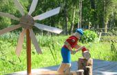 Holz-Häcksler-Windmühle