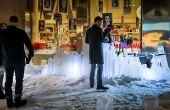 Werfen Ice Rohre in Schneelandschaft