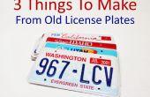 3 Dinge, die machen aus alten Nummernschilder