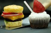 Burger und Shake Cupcakes gemacht auf dem BBQ-Grill!