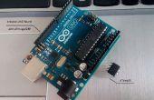Zum Programmieren der ATtiny85 mit dem Arduino Uno Board