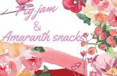 Feigenmarmelade + süße Amaranth Snacks