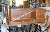 Umwandlung einen alten Schreibtisch für ein Hobby/Handwerk Schreibtisch