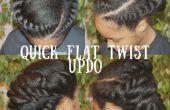 Schnelle flache Twist Hochsteckfrisur Haar Tutorial