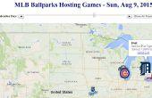 Ihre Sommer-Baseball-Reise mit einer dynamischen Web-App Karte Plan