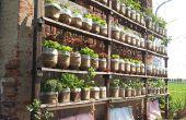 Selbst die vertikale Gartenbewässerung mit recycelten Wasserflaschen