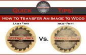 Wie man ein Bild auf Holz - Laser vs. Inkjet