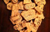 Holz-Block-Roboter