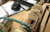 Mini Holz-Drehmaschine mit Altholz