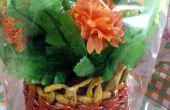 Flower Vase aus Zeitung Tube