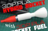 3D-Druck PLA Hybrid Rocket mit 3D gedruckten PLA Kraftstoff