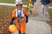 X-Wing Pilot (rote V) Kinder Kostüm
