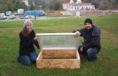 Frühbeet-Konstruktion mit Recycling-Materialien