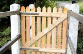 Palette Holz Zaun Tor für meine Brücke