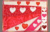 Valentinstag-Stoff-Postkarte