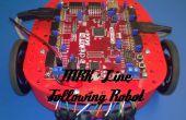 Zeile folgenden MRK-Roboter mit 3D-gedruckte Teile