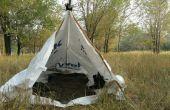 Tyvek-Tarp-Zelt und Unterlage