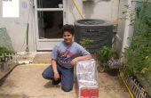DIY Solarheizung Essen aus wiederverwendeten Materialien hergestellt.