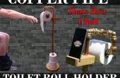 Kupfer-Rohr WC-Papierhalter & Telefon Stand