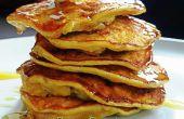 10 Minuten glutenfreies Frühstück: gesunde flauschige Pfannkuchen Mehl-weniger