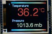 """Arduino BMP180 Temperatur und Druck-Sensor-Werte auf eine 1,8"""" Farb-TFT-display"""