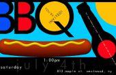 Bunte BBQ Partyeinladung Poster in Photoshop erstellen