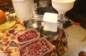 Zuckerfreien hausgemachte Bio Himbeer-Gelee mit Honig gesüßt!