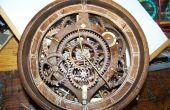 Hölzerne Getriebe Banjo Uhr