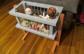 Altmodische Krippe für Puppen & Stuffies