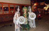 Medusa und Statuen Halloween handgefertigte Kostüme 2012