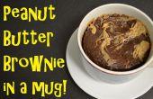 Peanut Butter Brownie in einem Becher!