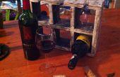 Einfaches Weinregal aus Palettenholz