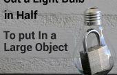 Wie man eine Glühbirne in zwei Hälften geschnitten