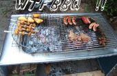 Edelstahl-Arbeitsplatte wird BBQ