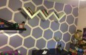 Sechseck Wand Raum Makever