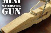 Mini Streichholz-Pistole - Wäscheklammer-Taschenpistole