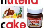 Nutella-Schokoladenkuchen mit Gelatine Form